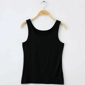 Women-Casual-solid-Color-Blouse-Tank-Tops-Sleeveless-Loose-Vest-T-Shirt-Modal