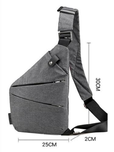 Men/'s Waterproof Shoulder Bags Chest Bag Male Nylon Bags Crossbody Bag Business