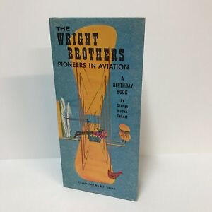 The-Wright-Brothers-Pioneers-In-Aviation-Birthday-Book-Gibson-Greeting-Card-VTG