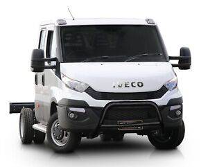 IVECO-DAILY-TRUCK-BLACK-NUDGE-A-BAR-STAINLESS-STEEL-BULL-BAR-2015-ONWARDS-W-K