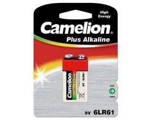 Détails sur Lot 12 piles Alcalines Camelion 9V 6LF22 6LR61 avec blister Capacité 700mah