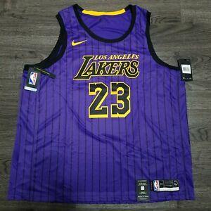 Details about NIKE LA Lakers Lebron James 2019 City Edition Showtime Jersey Mens 3XL Purple