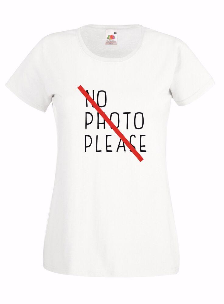 CoopéRative T-shirt Maglietta Donna J2021 No Photo Please Foto Selfie Social Vip Hastag Gamme ComplèTe D'Articles