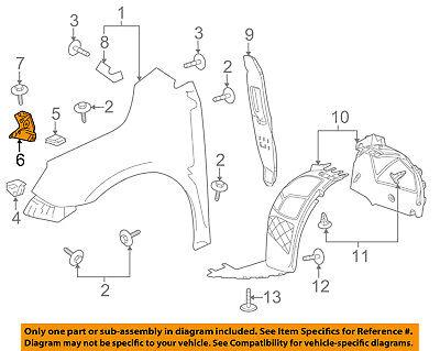 Buick GM OEM 10-13 LaCrosse-Fender Front Bracket Right 15925013