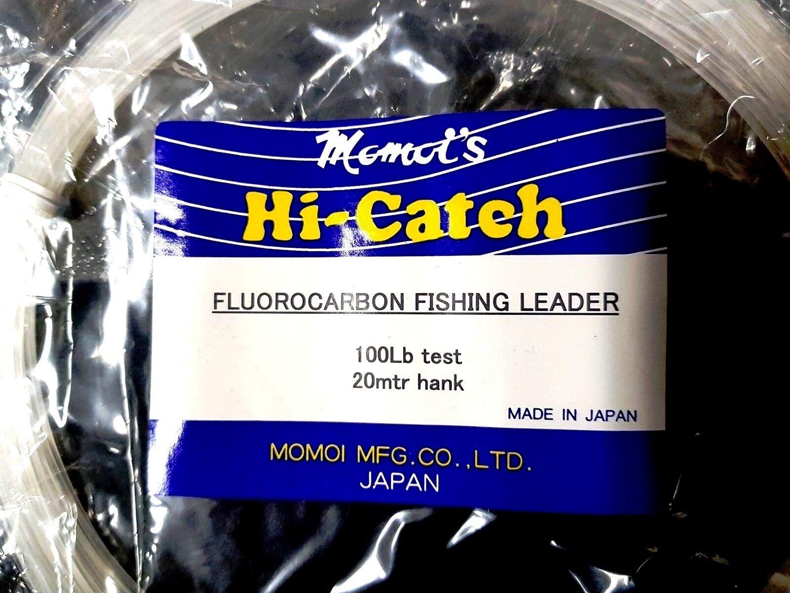 Momoi Hi-Catch leader Fluorocarbon leader Hi-Catch 20m 100lb game leader line rigs marlin tuna 06f870