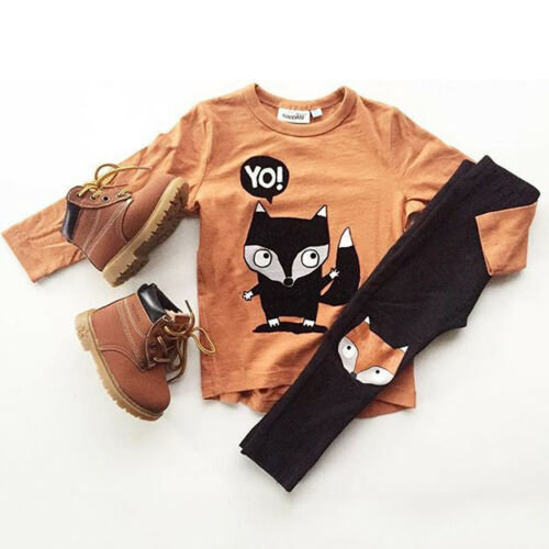 Infant Kid Baby Boy Dinosaur Outfit Clothes T-shirt Top+Pants//Trousers 2PCS Set