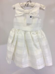 fdd99057269f JANIE AND JACK TODDLER GIRLS STRIPED SPECIAL OCCASION DRESS IVORY SZ ...
