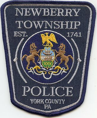 NEWBERRY TOWNSHIP York County PENNSYLVANIA PA POLICE PATCH