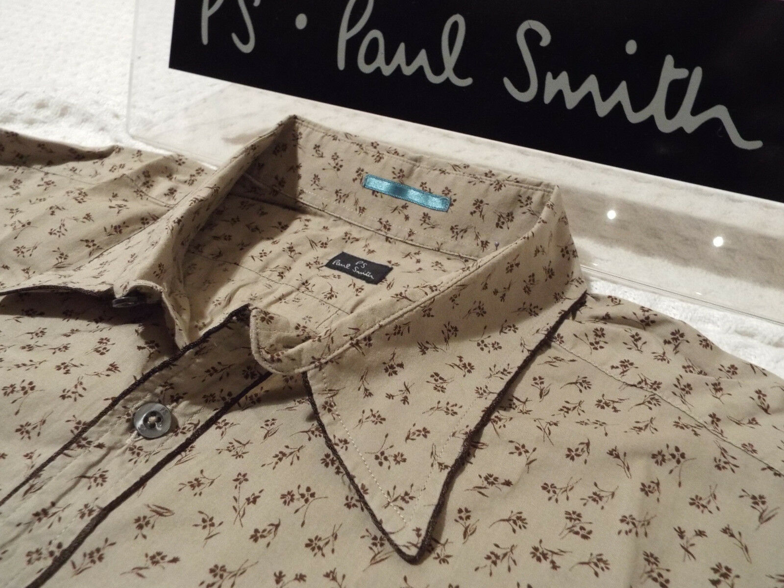 PAUL SMITH Mens Shirt  Size XL (CHEST 42 )  RRP +  FLORAL LIBERTY STYLE