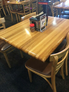 Image Is Loading Butcher Block Dining Table And Chairs