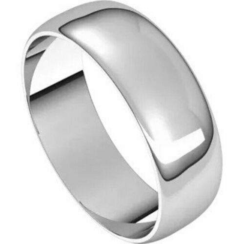 Details about  /6mm SIZE 5-10k White Gold Wedding Band Half Round Standard Fit Ring New