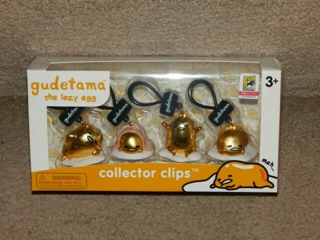 SDCC 2018 Exclusive Sanrio Gudetama 4-Pack Figurine Set Lazy Egg