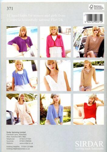Sirdar Knitting Pattern Book #371 Flirt 17 Designs for Girls 2yrs /& up /& Women