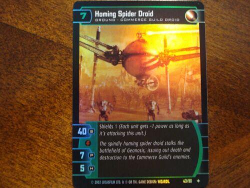 Star Wars TCG SR Homing Spider Droid FOIL 43//90