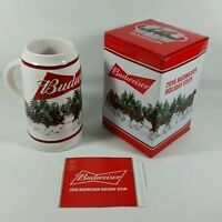 2016 Budweiser Holiday Stein Annual Clydesdale Christmas Beer Mug W/gift Box