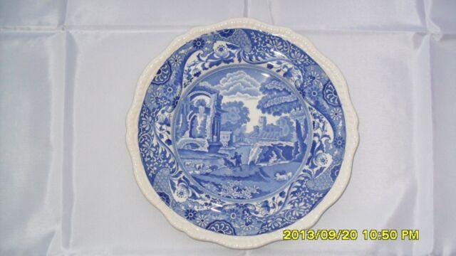 "Antique Copland Spode ""Italian"" pattern porcelain dinner plate 10.1 in. diameter"