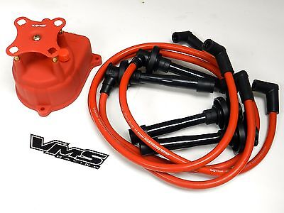 VMS RACING RED OE STYLE DISTRIBUTOR CAP FOR 92-00 HONDA CIVIC 1.5L 1.6L