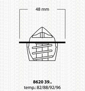 Thermostat Kühlmittel Triscan 8620 3992