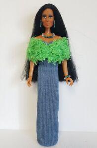 Handmade-Clothes-Stole-Dress-amp-Jewelry-for-vintage-Mego-Cher-Farrah-NO-DOLL-d4e