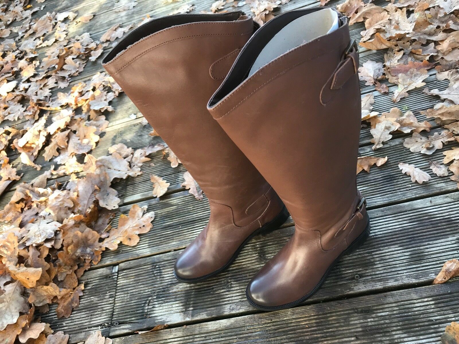 REDWING KENSINGTON WOMENS QUALITY LEATHER CLASSIC MID CALF BROWN RIDING BOOTS 8