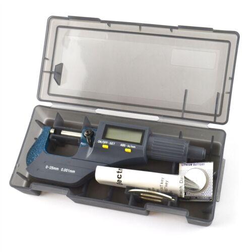Digital Micrometer 0 - 25mm External Mechanics Engineers Measuring Electronic