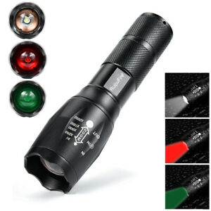 2000-lm-Red-White-GN-Light-3xLED-Flashlight-Hunting-Lamp-18-RK