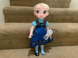 "Disney Store Animators Collection Elsa Doll w// Plush Olaf 16/"" Frozen Toddler NEW"