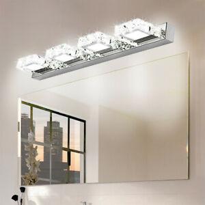 Modern Bathroom LED Crystal Mirror Front Make-up Wall Light Toilet Vanity Lamp