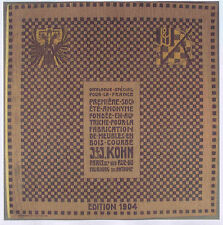 THONET JACOB.& JOSEF. KOHN KATALOG 1904 und 1907
