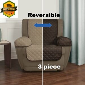 Image Is Loading Recliner Pet Chair Cover 2 Sides Arm Covers