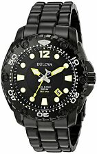 Bulova Sea King 98B242 Black Dial Black Ion Plated Stainless Steel Men's Watch