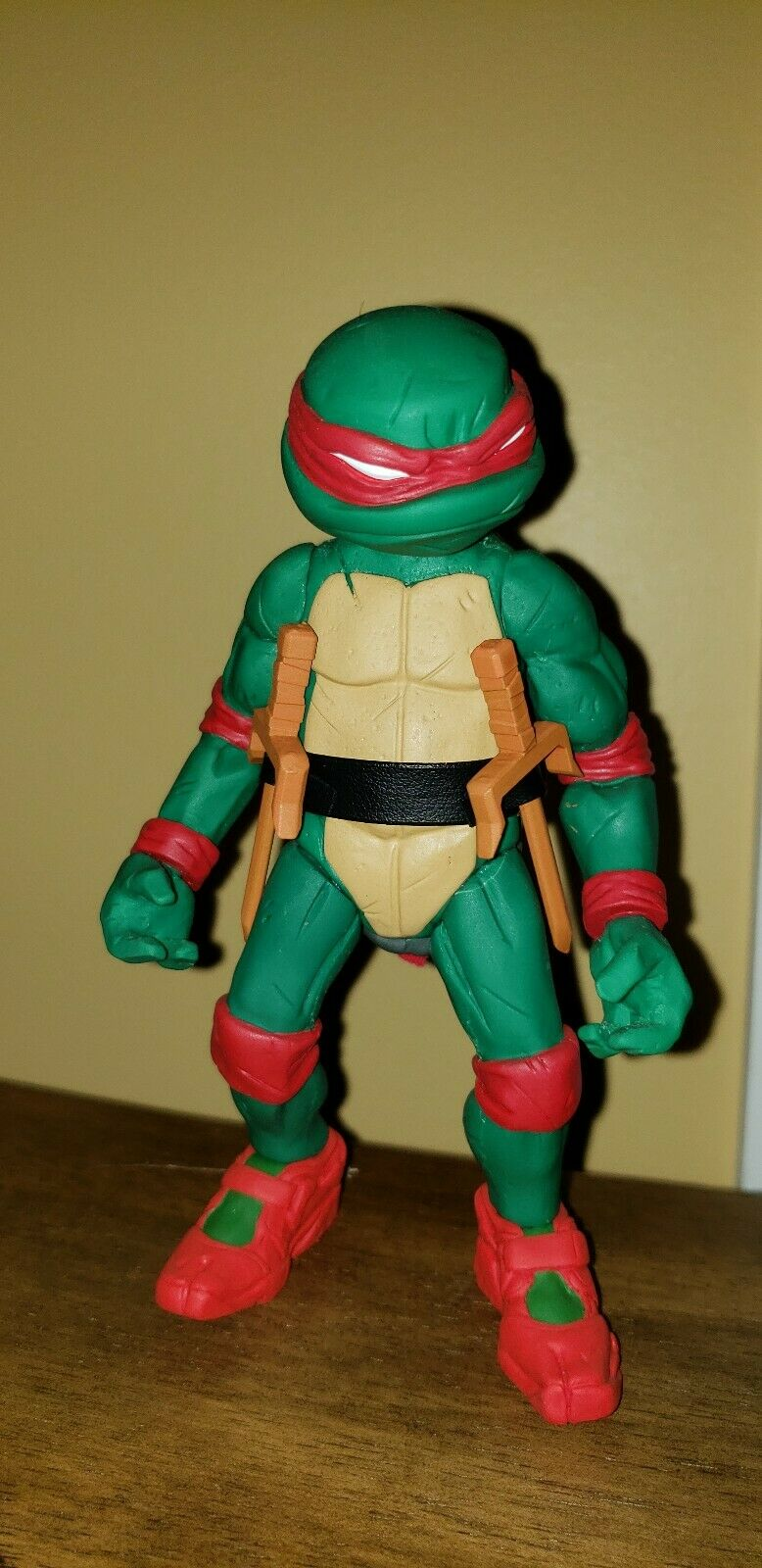 Whereschappell TMNT Raphael cartoon green and red Resin Statue