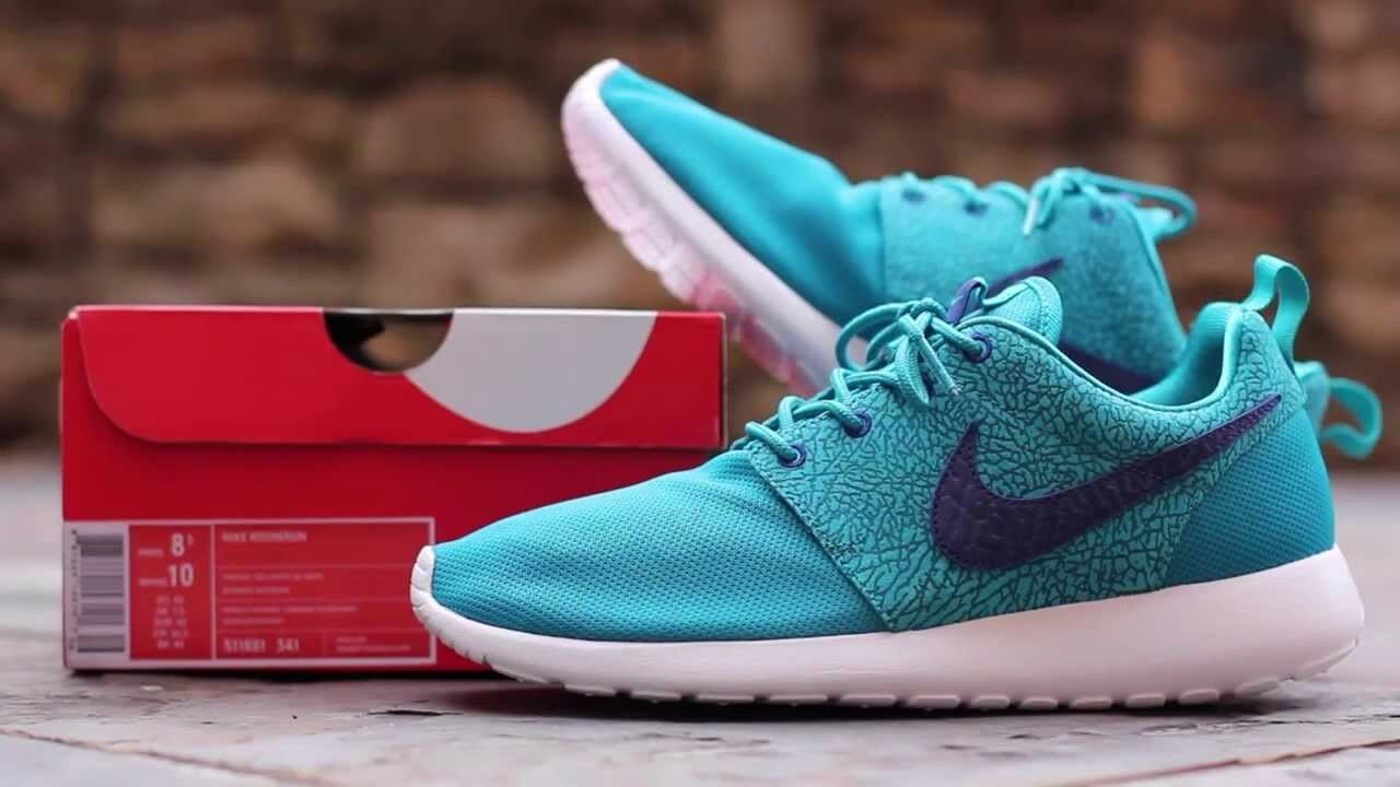 Size? Nike Roshe Run Cement Tropical Teal 12 Deep Royal Blue White 511881-341