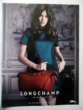 PUBLICITE-ADVERTISING :  LONGCHAMP Pliage Héritage  2014 Sac Cuir rouge,Mode