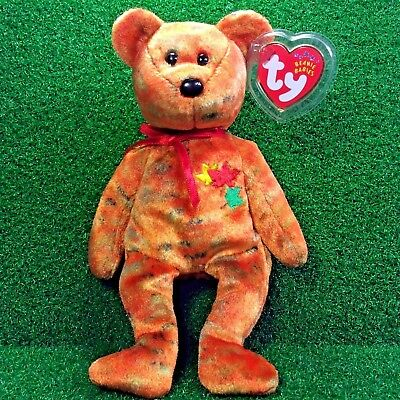 "NEW Ty Beanie Baby Groovy The Bear 1999 /""TyDye/"" Plush Toy Teddy Bear MWMT"