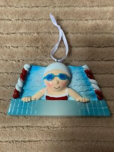 Swimming Girl Personalized Christmas Ornament DO-IT ...