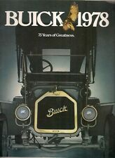 BUICK SKYLARK secolo Regal LeSabre Electra Riviera 1978 USA opuscolo di mercato