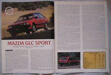 1980 Mazda GLC Sport Original Road & Track magazine Road test