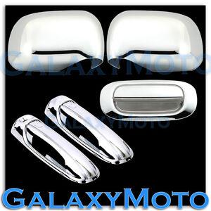 Chrome-Mirror-2-Door-Handle-W-O-PSG-KH-Tailgate-Cover-for-05-10-Dodge-Dakota