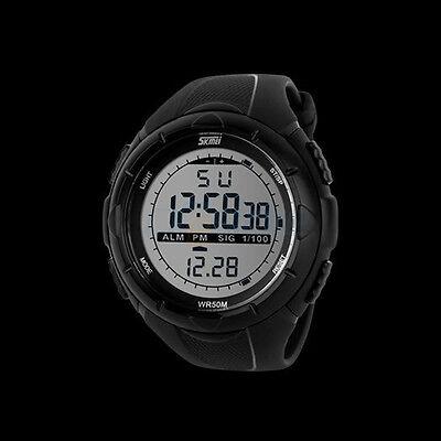 SKMEI Men's Rubber Band LED Digital Sports Waterproof Diving Quartz Wrist Watch