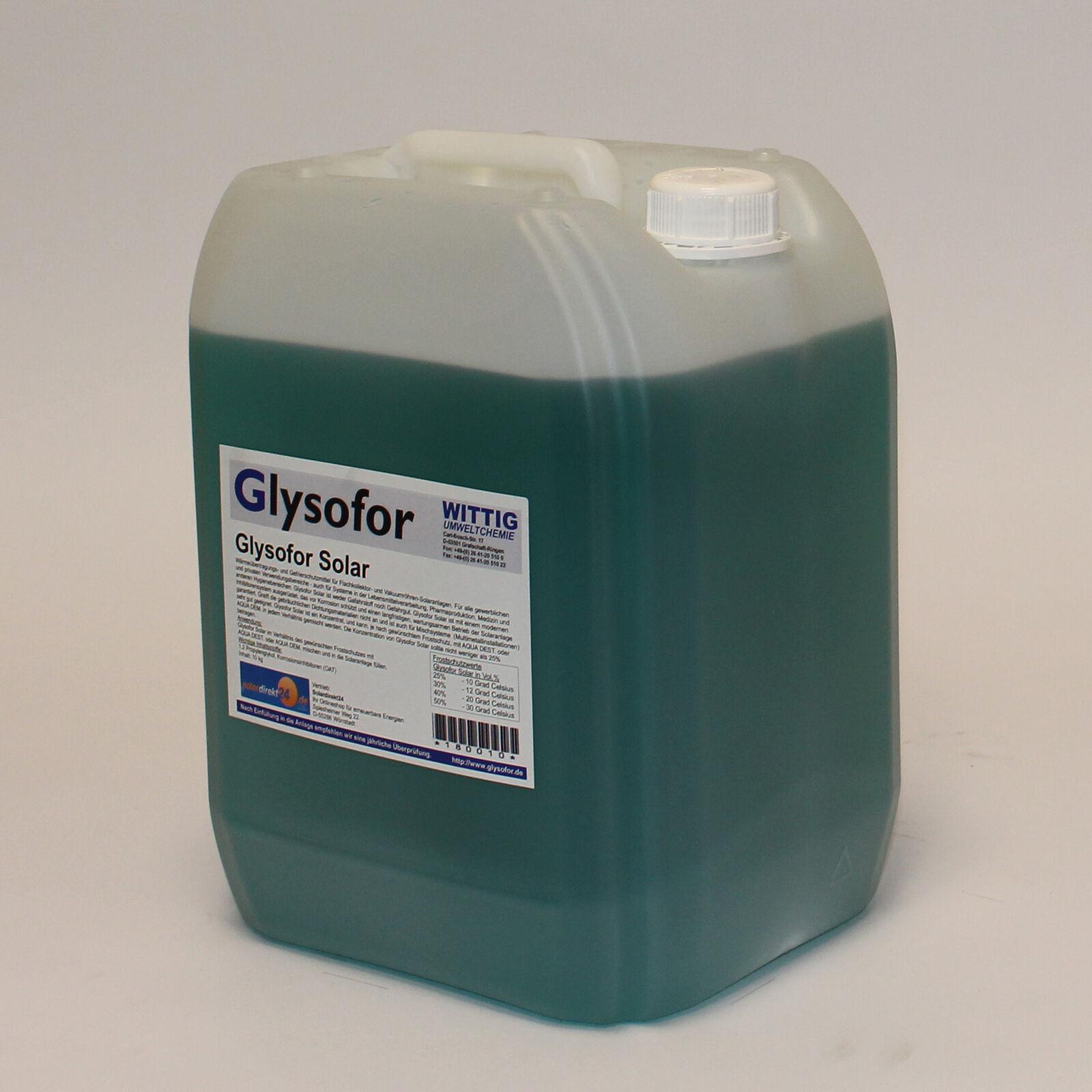 Solarflüssigkeit Konzentrat bis -50°C Frostschutz, Solarfluid - 10-50 Liter