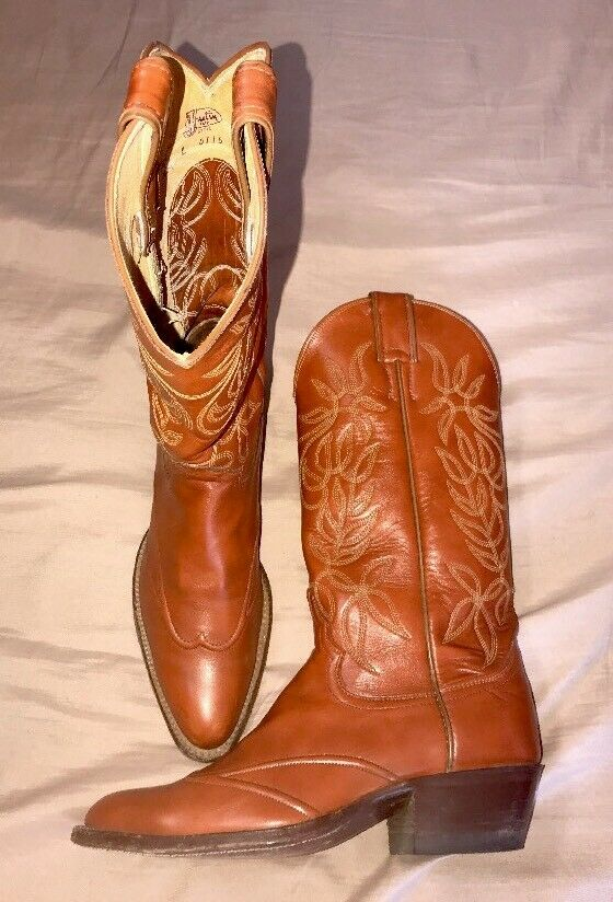 WOMEN'S JUSTIN L 4115 BROWN LEATHER WESTERN COWBOY BOOTS SIZE 5.5 B