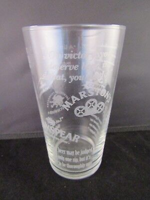 Pint Glass Marston/'s Ringwood Brakspear Wychwood Jennings  Mancave Pub Bar FAB