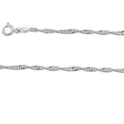 Sterling Silver 2.5 mm Round Snake Chain Necklace or Bracelet Made in Italy