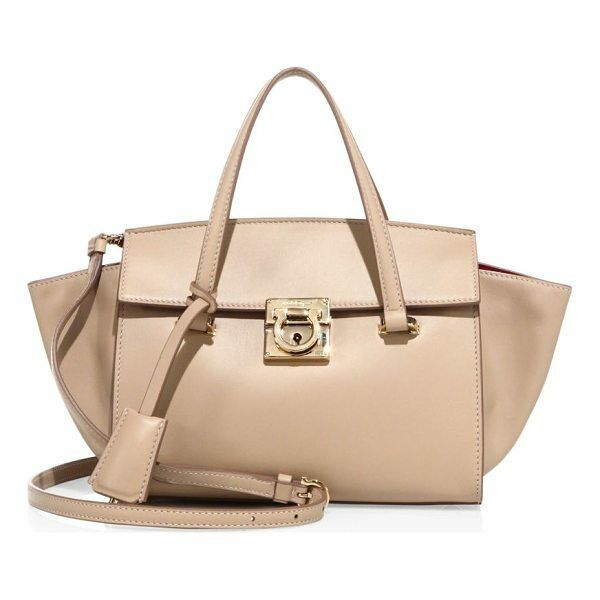 fc9d95112bcd 100 Auth Salvatore Ferragamo Carrie Bisque Satchel Tote bag handbag for  sale online