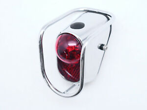 Bicycle-Rear-LED-Tail-Lights-Chrome-Old-School-Vintage-Classic-Tour-W-Battery