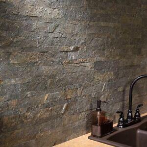 Peel And Stick Tile Self Adhesive Stone Wall Bathroom Kitchen