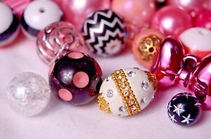 Fancy-Bubblegum-Bead-Princess-Mix-with-Indonesian-Glass-Beads-BM301