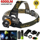 6000LM XM-L T6 LED Headlight Zoomable 18650 Headlamp Flashlight Head Lamp Light