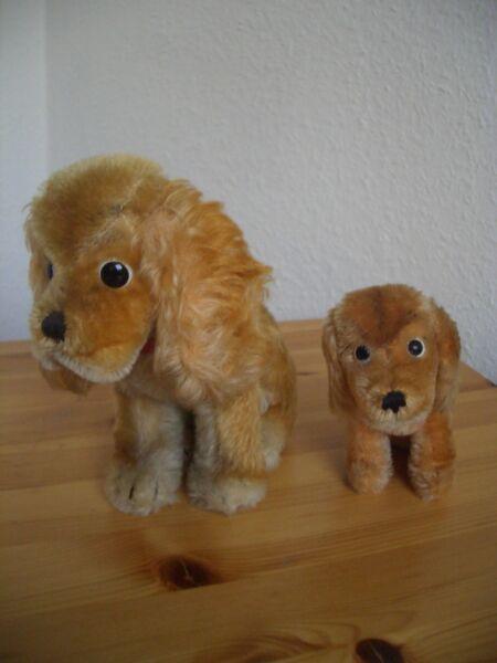 Alte Steiff Hunde Revue Susi Mit Knopf Und Fahne - Konvolut - Sammlungsauflösung